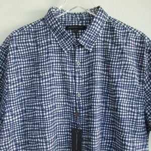 John Varvatos Star USA Mens Shirt XXL Blue NWT